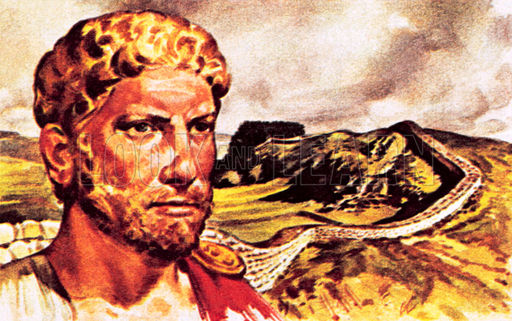The Roman Emperor Hadrian and Hadrian's Wall