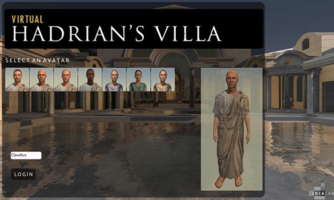 VirtualHadriansVilla_IDIALab_Login