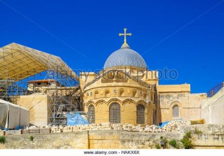 view-of-the-roof-of-the-church-of-the-holy-sepulcher-in-the-old-city-hakx6x